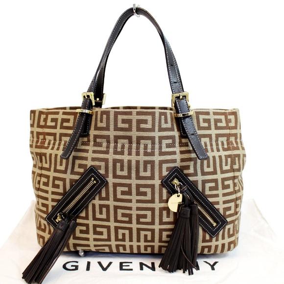 Givenchy Handbags - Givenchy Jacquard Canvas Tote Bag